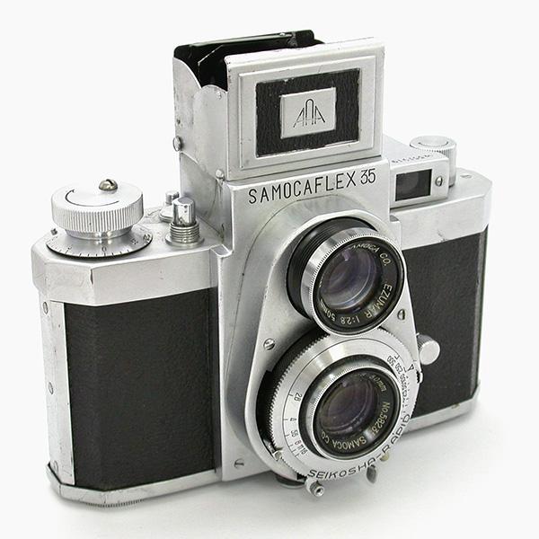 サモカフレックス 35Ⅱ型/ Dエズマール50mmF2.8 特徴的な正面からの姿