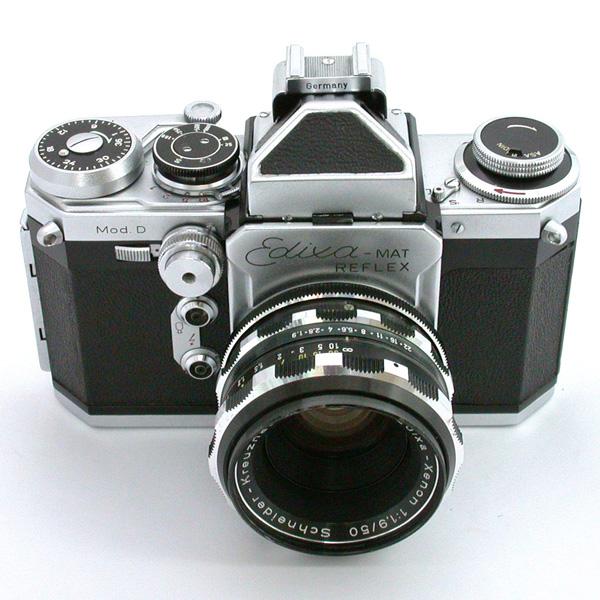 ペンタプリズムを装着 エディクサ・マート・レフレックス エディクサ・クセノン50mmF1.9